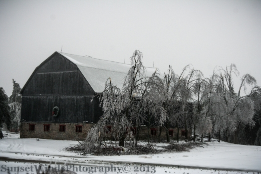 Frosted Barn
