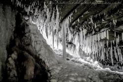 Behind Websters Falls in Winter